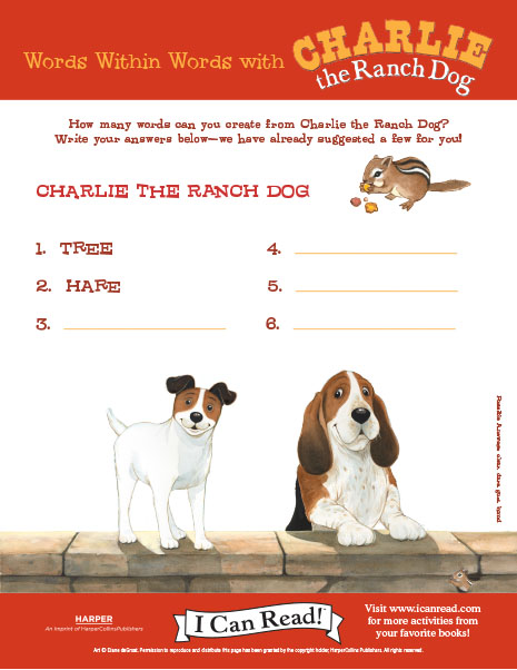 Words within Words with Charlie the Ranch Dog
